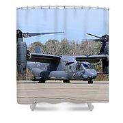 A U.s. Air Force Cv-22b Osprey Shower Curtain