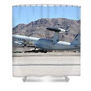 A U.s. Air Force E-3a Sentry Taking Shower Curtain
