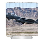 A U.s. Air Force F-15e Strike Eagle Shower Curtain