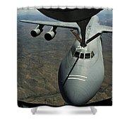 A U.s. Air Force Kc-135r Stratotanker Shower Curtain