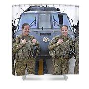 A U.s. Army All Female Crew Shower Curtain