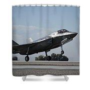 A U.s. Marine Corps F-35b Aircraft Shower Curtain
