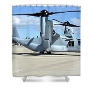 A U.s. Marine Corps Mv-22b Osprey Shower Curtain