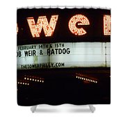 A Valentines Weekend With Ratdog  Tower Theater Marquis Shower Curtain