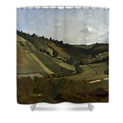 A Valley Shower Curtain