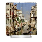 A Venetian Canal  Shower Curtain