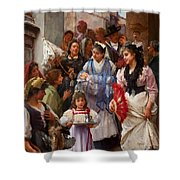 A Venetian Christening Party, 1896 Shower Curtain by Henry Woods