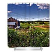 A Verdant Land II Shower Curtain
