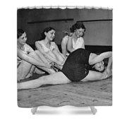 A Very Flexible Woman Shower Curtain