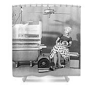A Vey Hot Woman Shower Curtain