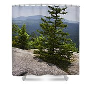 A View From A Mountain In A Vermont State Park Shower Curtain