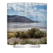 A View From Buffalo Point Of White Rock Bay Shower Curtain