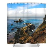 A View From Ecola State Park Shower Curtain