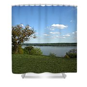 A View From Mount Vernon Shower Curtain