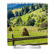 A View From The Carpathians Shower Curtain