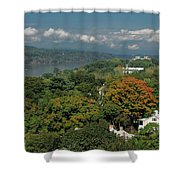 A View From The Hudson River Walkway Shower Curtain