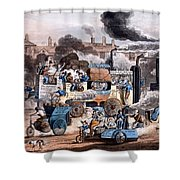 A View In White Chapel Road 1830 Shower Curtain