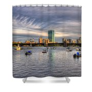 A View Of Back Bay - Boston Skyline Shower Curtain