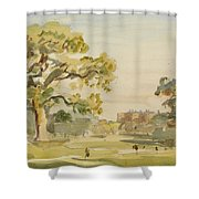 A View Of Chirk Castle, 1916 Shower Curtain