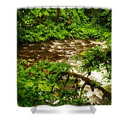 A View Of Eagle Creek Shower Curtain