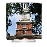 A View Of Independence Hall Shower Curtain