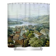 A View Of Karlsruhe Shower Curtain