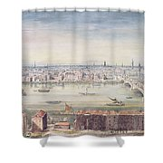 A View Of London From St Pauls To The Custom House, 1837 Shower Curtain
