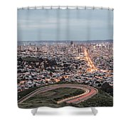 A View Of San Francisco At Twighlight Shower Curtain