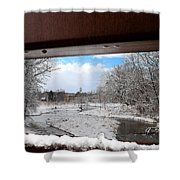 A View Of The Maunesha In A Fresh Blanket Of Snow Shower Curtain