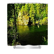 A View Of The Seleway River Shower Curtain