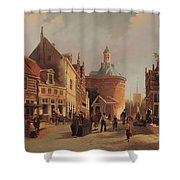 A View Of The Zuiderspui Shower Curtain