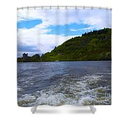 A View Of Urquhart Castle Shower Curtain