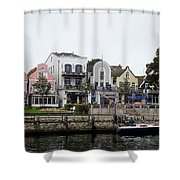 A View Of Warnemunde Germany Shower Curtain