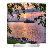 A View To A Sunset Shower Curtain