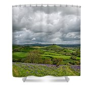 A View To Colmer's Hill Shower Curtain