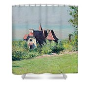 A Villa At Trouville Shower Curtain by Gustave Caillebotte