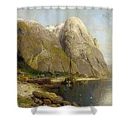 A Village By A Fjord Shower Curtain