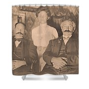 A Vintage Photo Of People Shower Curtain