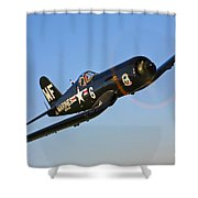 A Vought F4u-5n Corsair Aircraft Shower Curtain