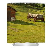 A Wagon   Let's Work Shower Curtain
