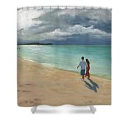 A Walk At Tumon Bay Guam Shower Curtain