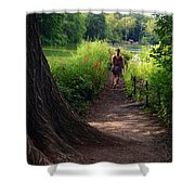 A Walk By The Reservoir Shower Curtain
