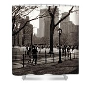 A Walk In Central Park - Antique Appeal Shower Curtain