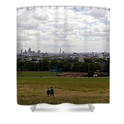 A Walk In London Shower Curtain