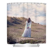 A Walk In The Dunes Shower Curtain by Joana Kruse