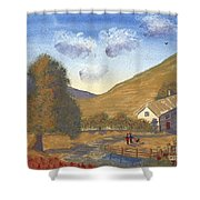 A Walk In The Hills Shower Curtain