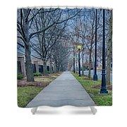 A Walk On A Sidewalk Street Alley Shower Curtain