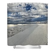 A Walk On The Dunes Shower Curtain