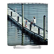 A Walk On The Pier Shower Curtain