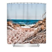 A Walk Out To The Water Shower Curtain
